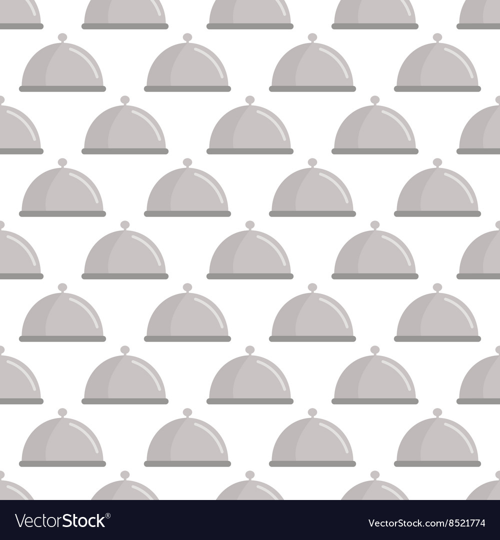 Restaurant cloche pattern seamless vector