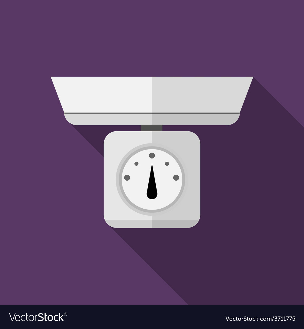 Flat icon for kitchen scales vector