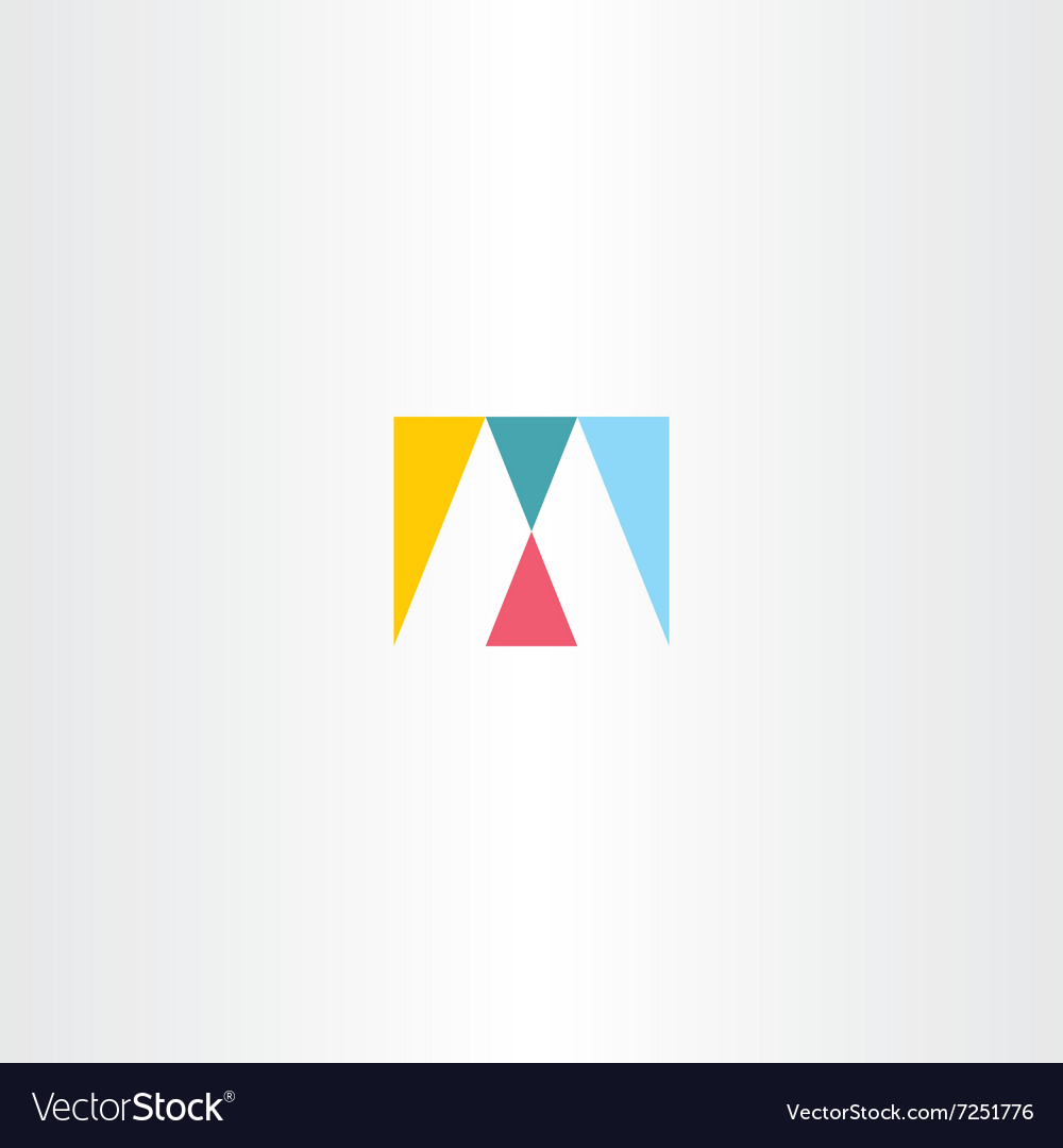 Logo m letter m logotype sign icon design vector
