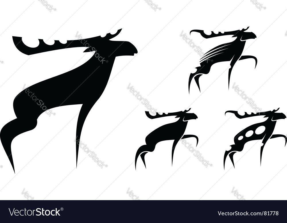 Set of mooses vector
