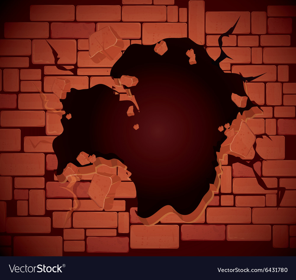 Brick wall design vector