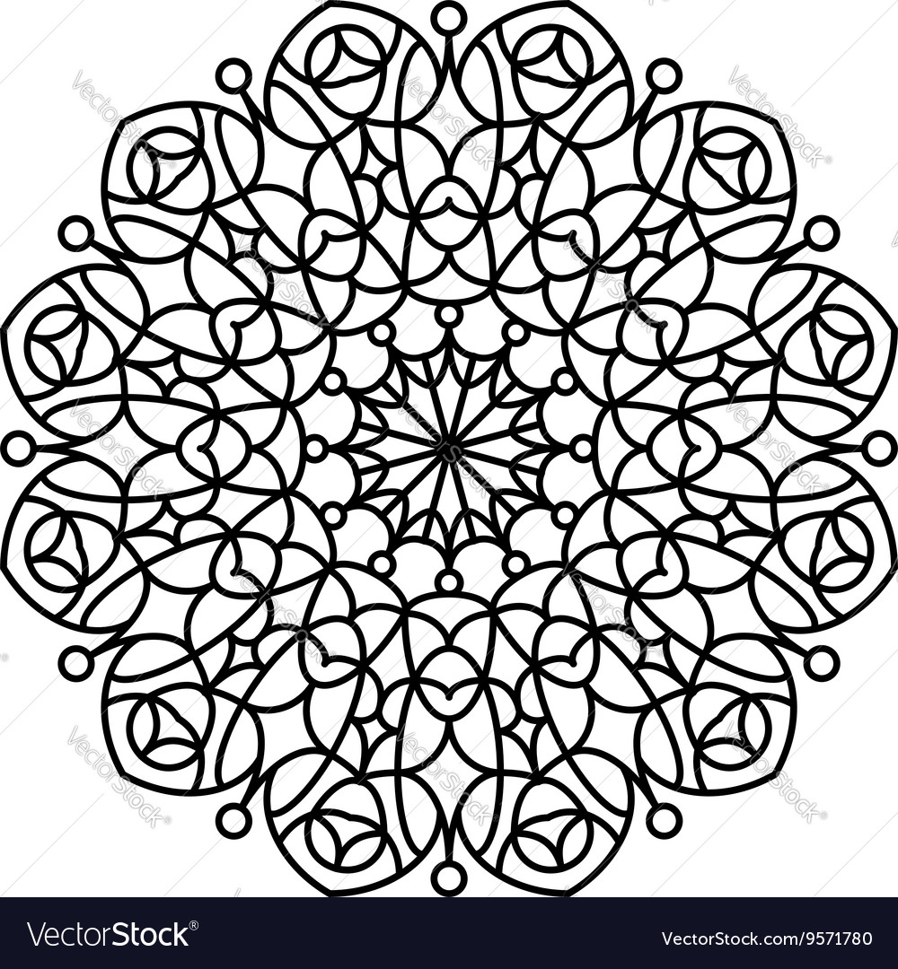 Coloring book mandala vector