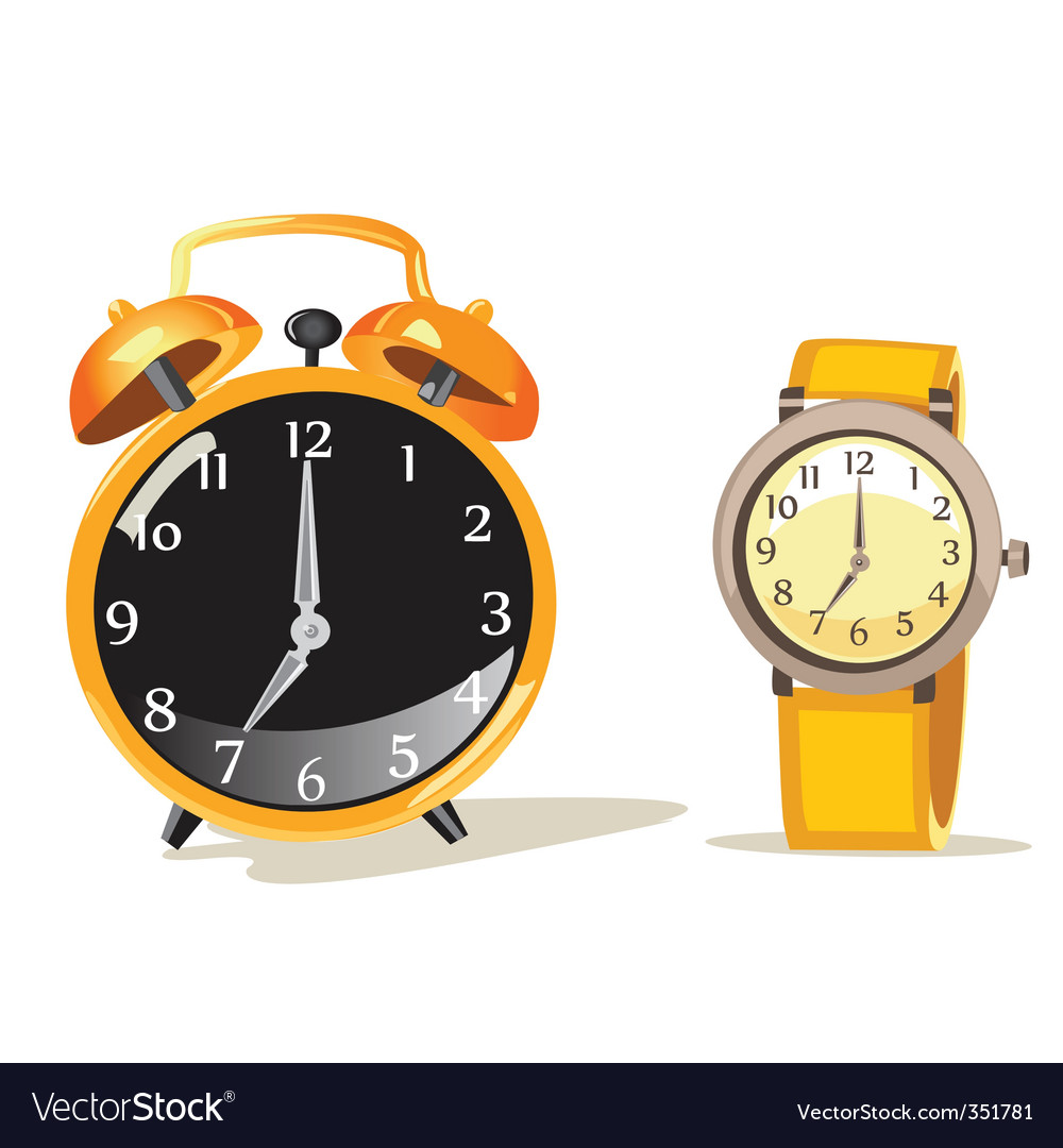 Watch cartoon vector
