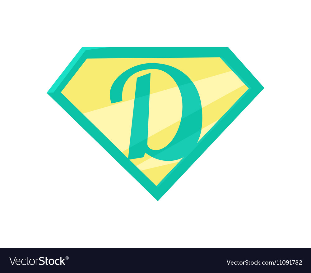 Father superhero symbol vector