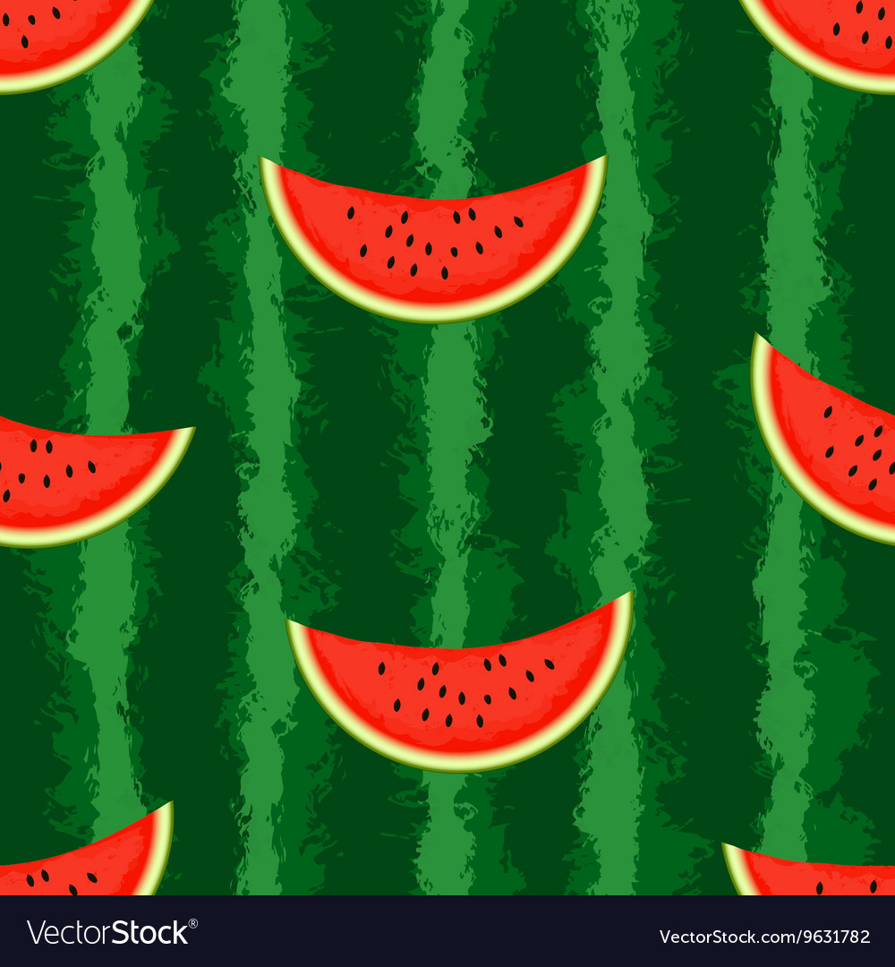 Watermelon background seamless endless vector