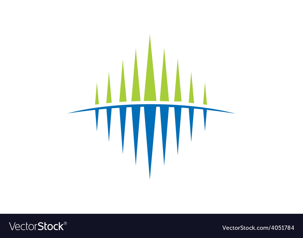 Business abstract flow geometry sound wave logo vector