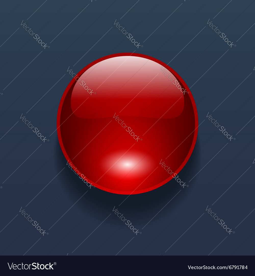 Red button vector