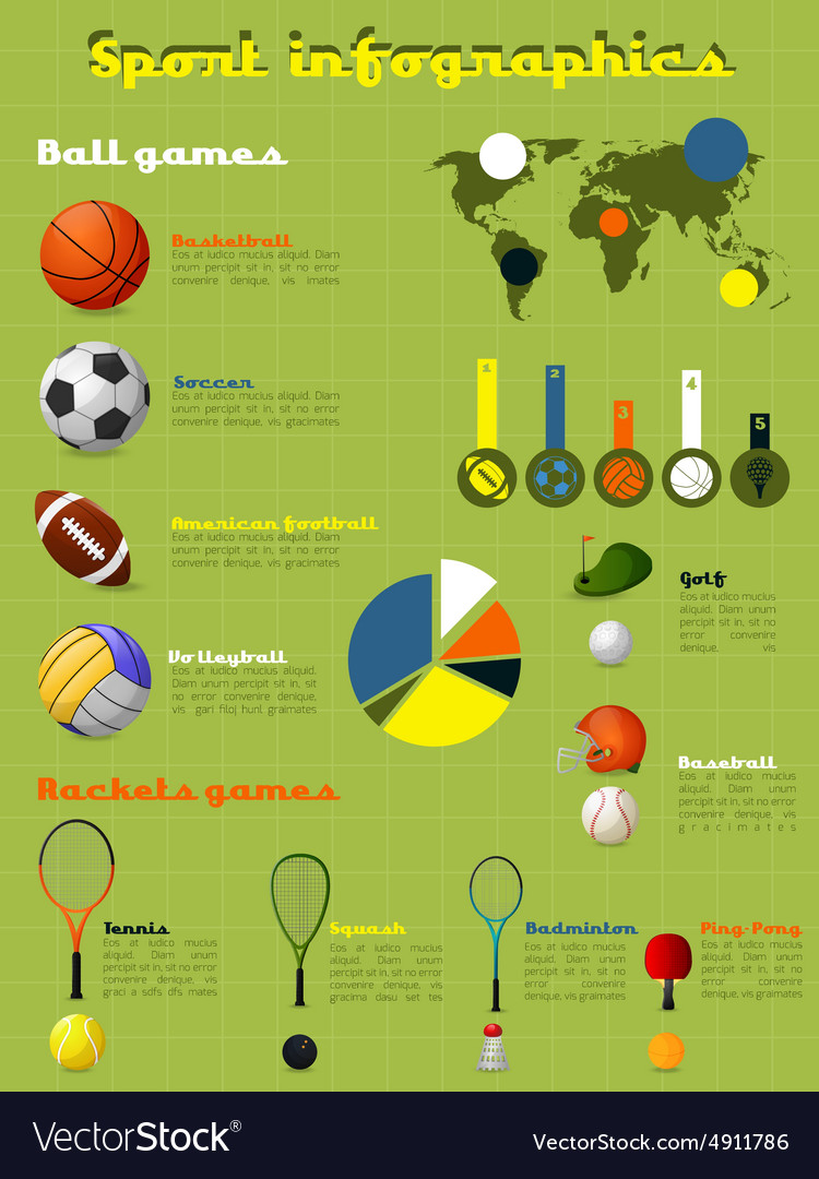 Sports infographics set vector