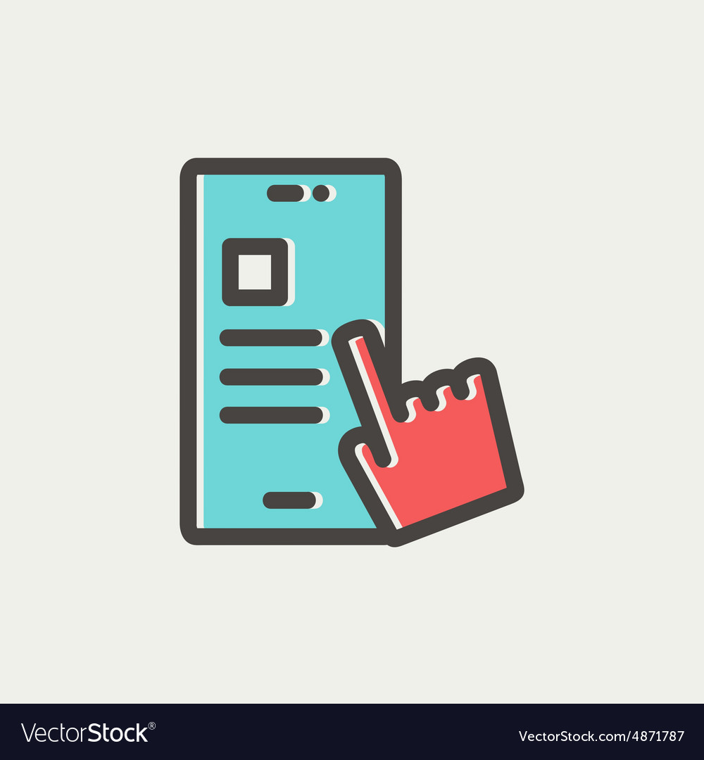 Smartphone and hand checking of work task schedule vector