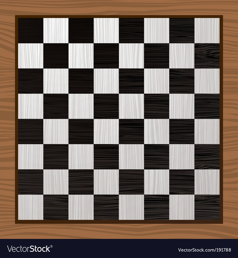 Black and white chess board vector
