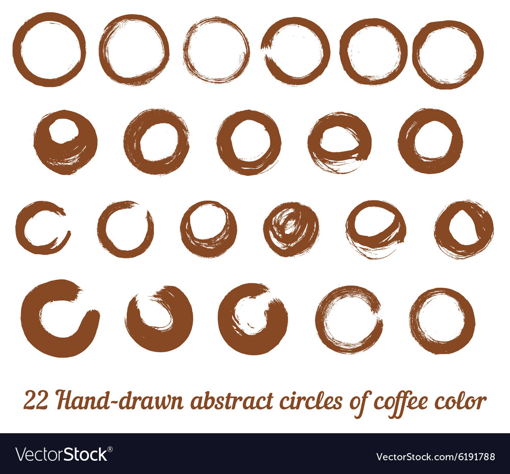 Set from 22 handdrawn abstract brown ink vector