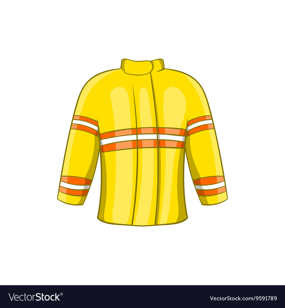 Fire jacket icon cartoon style vector