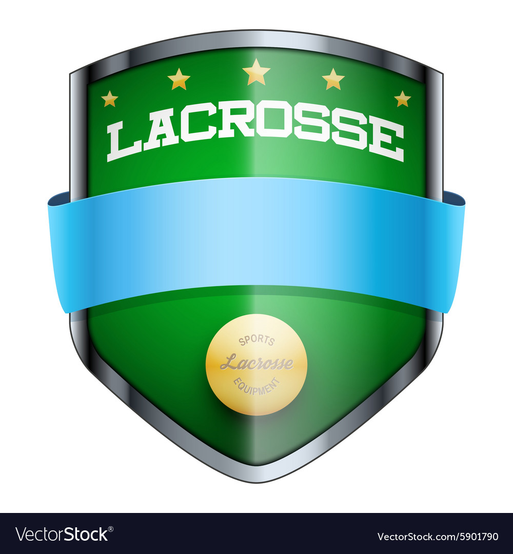 Lacrosse shield badge vector