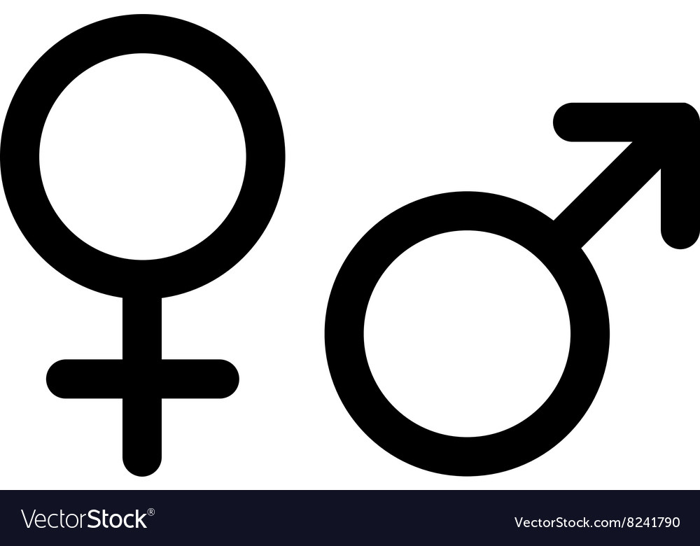 Men and women pictograms mars venus icons vector