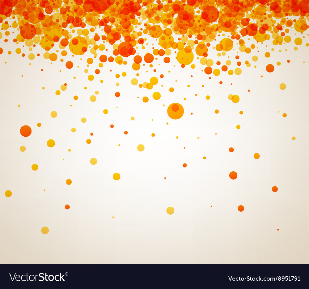 Background with orange drops vector