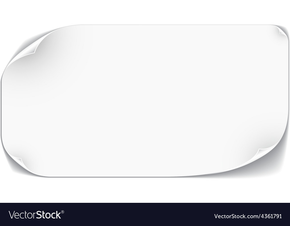White paper card vector