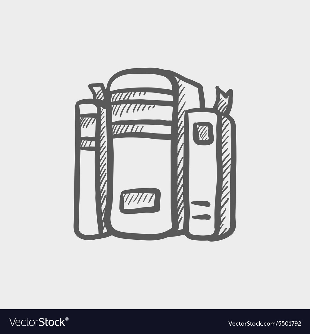 Binders sketch icon vector