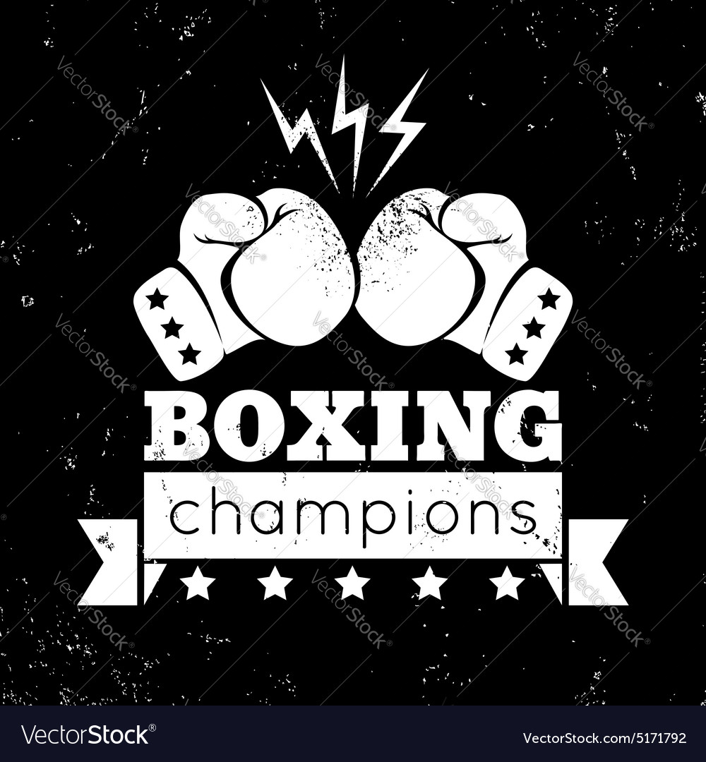 Boxing white vector