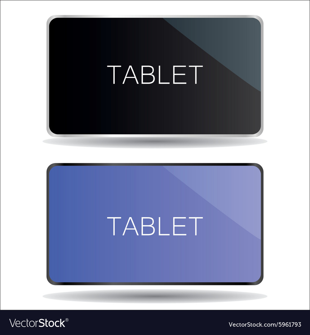 Black and silver tablet mock up symbols eps10 vector