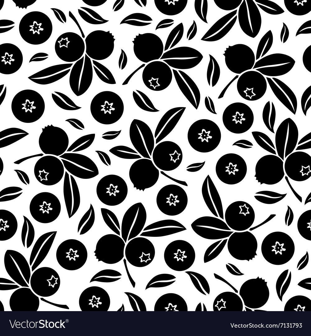 Blueberry seamless vector