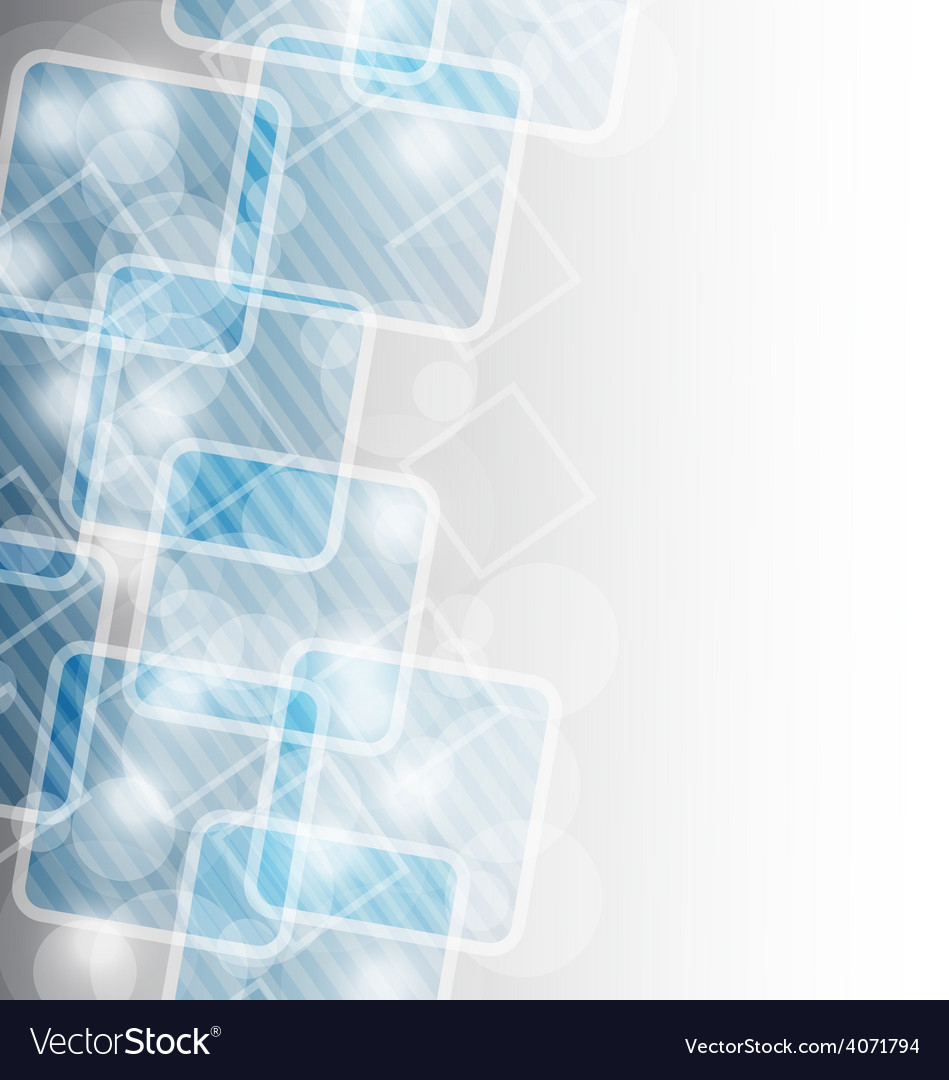 Corporate business card with abstract squares vector