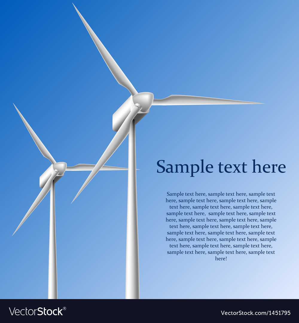 Wind generators vector