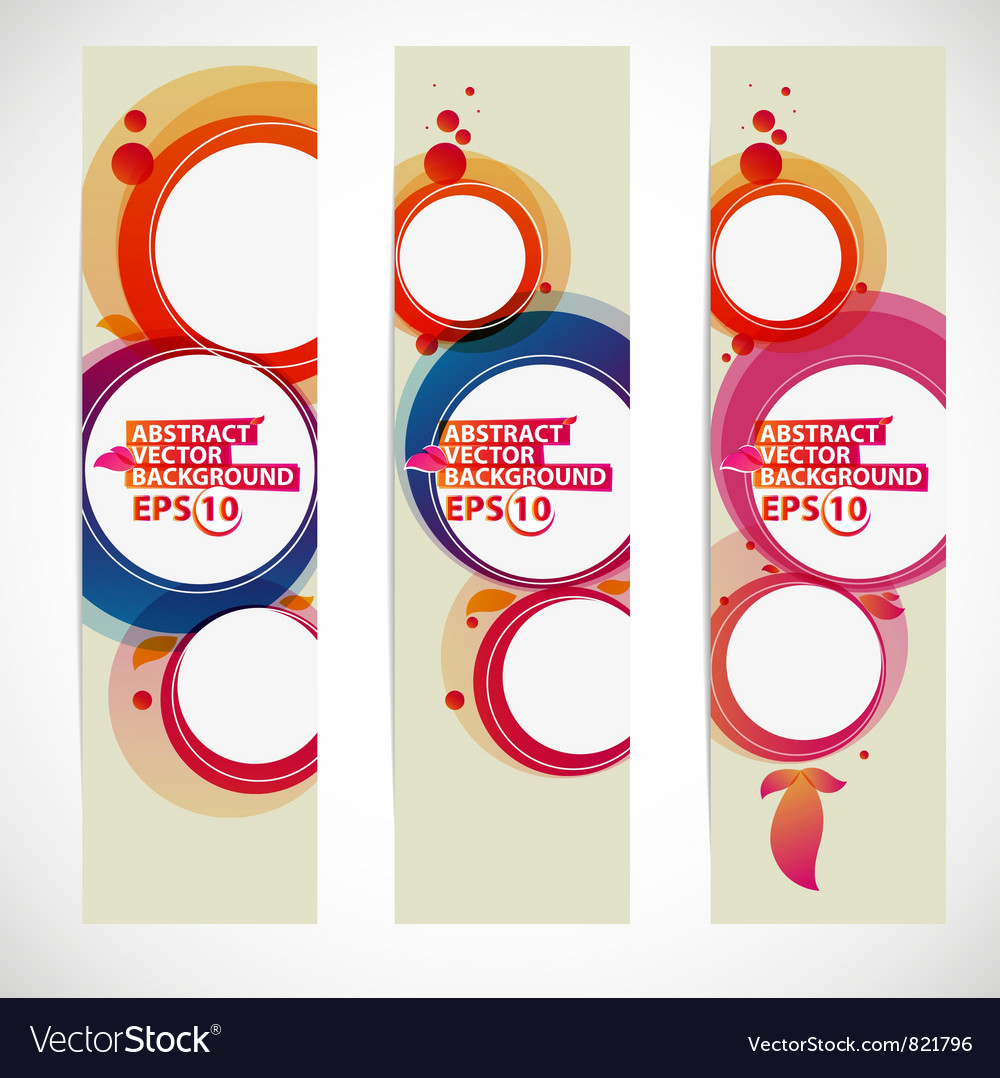 Abstract bubble banner vector