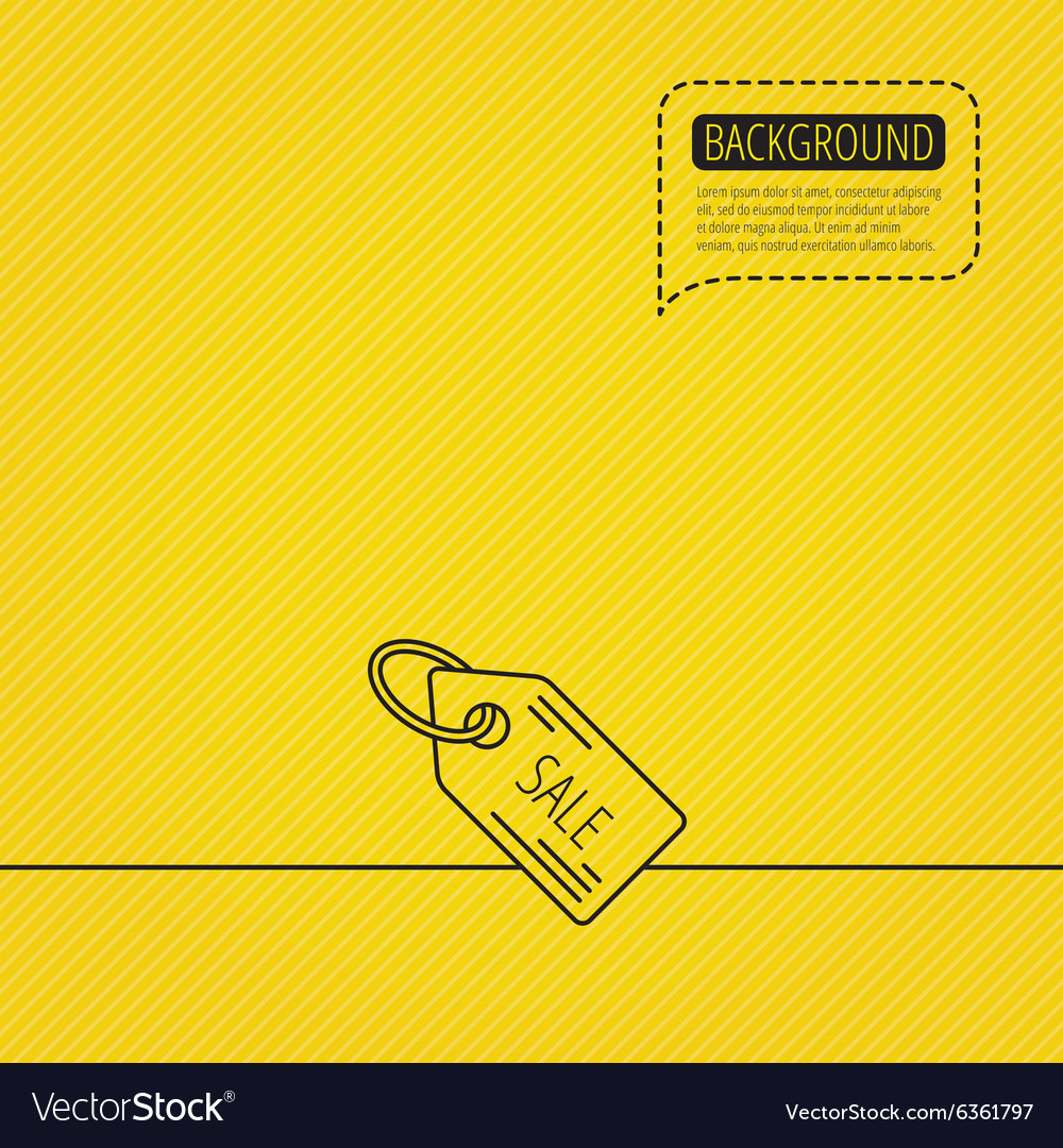 Sale shopping tag icon discount label sign vector