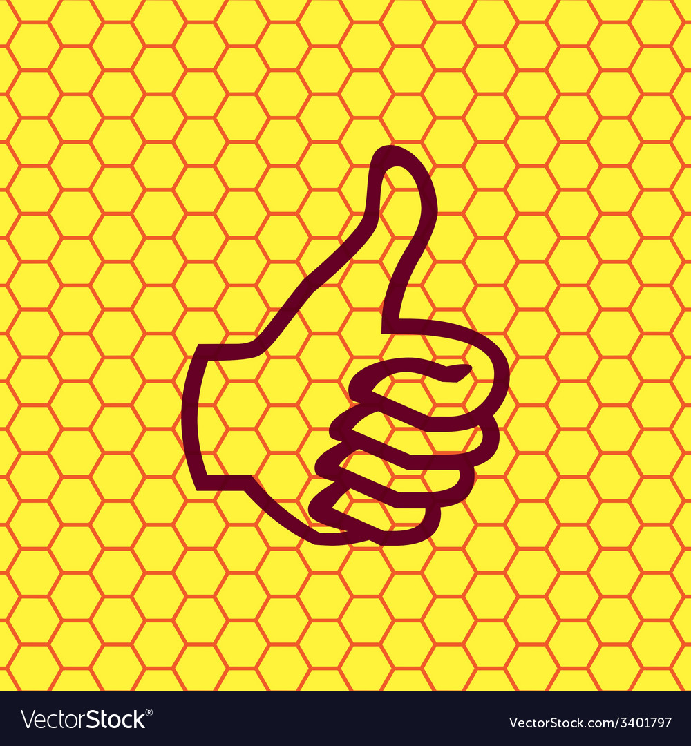 Thumb up icon symbol flat modern web design with vector