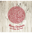 christmas ball on wooden vector image