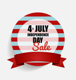 4 th of July Happy independence day Sale Coupon vector image vector image