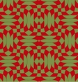 Retro 3D green red overlapping texture vector image