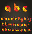 decorative colored alphabet vector image vector image