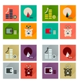 Concept of flat icons with long shadow finance vector image