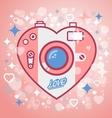 Camera love vector image