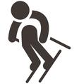 Downhill skiing vector image