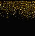 gold glitter falling stars background vector image