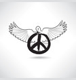 peace symbol dove pacifism sign international vector image