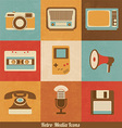 Retro Media Icons vector image