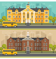 School building flat style vector image