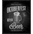 octoberfest chalk vector image