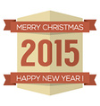 Vintage 2015 New Year Badge vector image