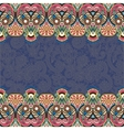 ethnic stripe ornament on floral background vector image