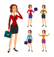 Three different body beautiful brunette vector image