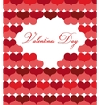 card template for valentine day vector image vector image