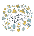 summer time round vector image