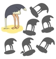 Cartoon ostrich vector image