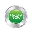Download now button green round sticker vector image