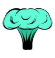 explosion of nuclear bomb icon cartoon vector image
