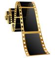 golden film vector image